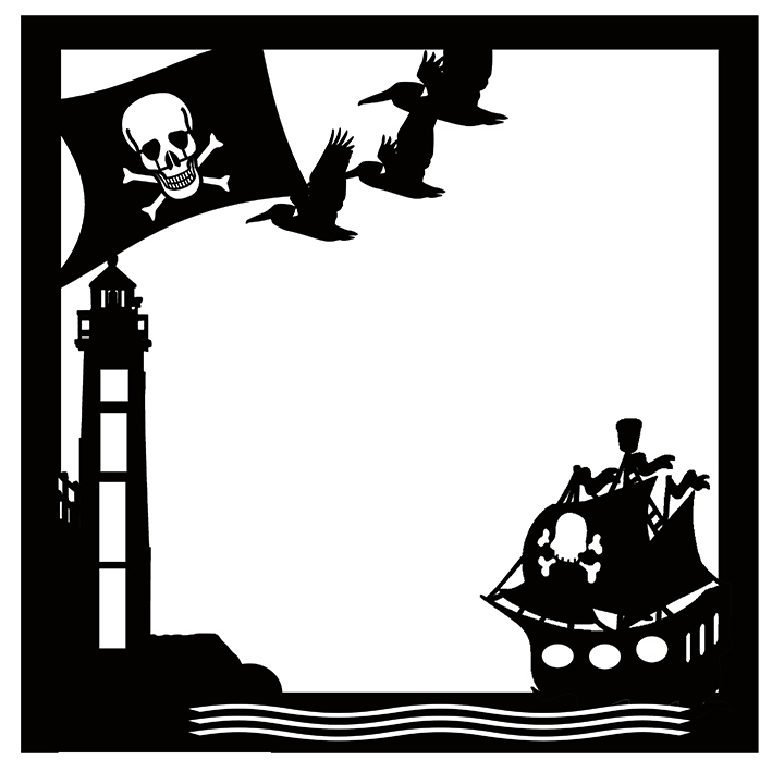 Pirates of the high seas ( BLACK) suit 12 x 12 page
