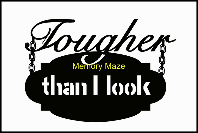 tougher than I look 150 x 100 min buy 3 memory maze