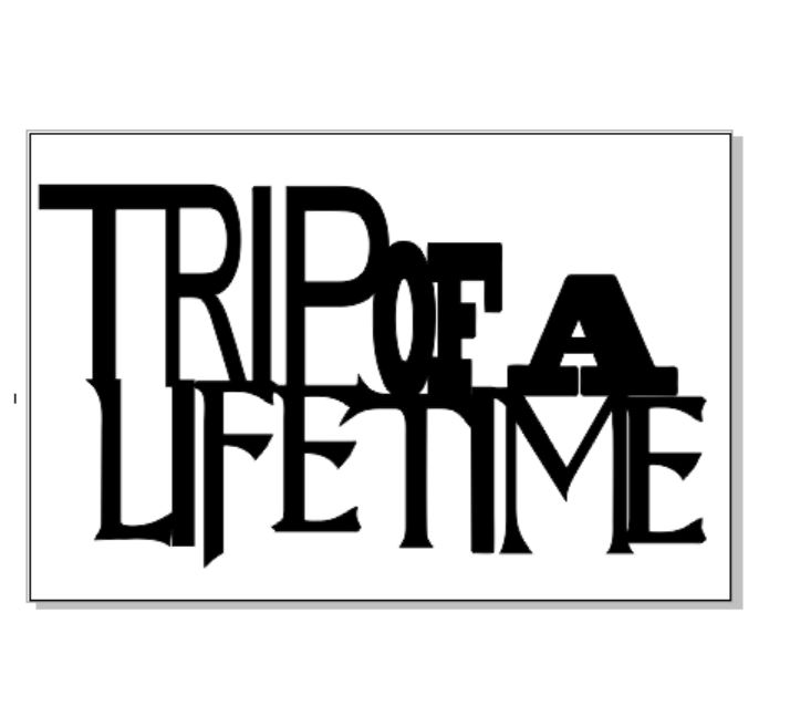 Trip of a life time 100 x 120 sold in 3's