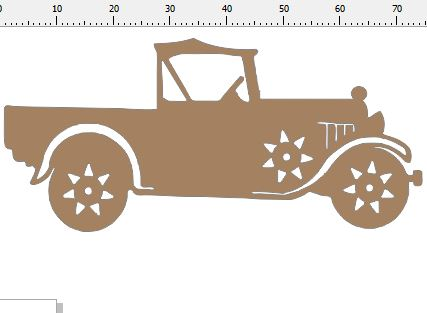 Old vintage car,ute farm vehicle card size pack of 10  75 x 35