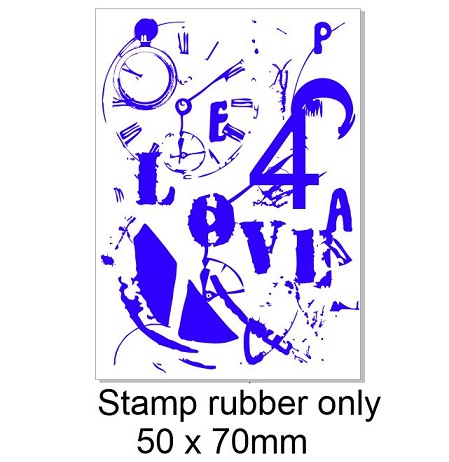 Vintage love numbers  stamp 50 x 70mm.