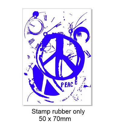 Vintage peace stamp 50 x 70mm