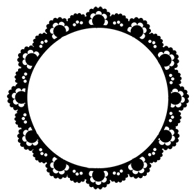 Vintage lace frame 10 inch or 200mm