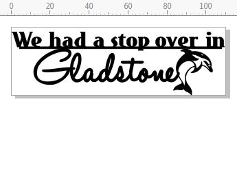 We had a stopover in Gladstone 110 x 35mm  pack of 10