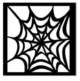 MINI STENCILS 100 X 100 spiders web  min buy 5 priced individual