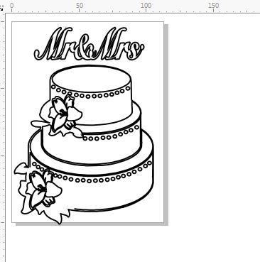 wedding cake  mr and mrs approx 130 x 100. min buy 3 Pack of 10