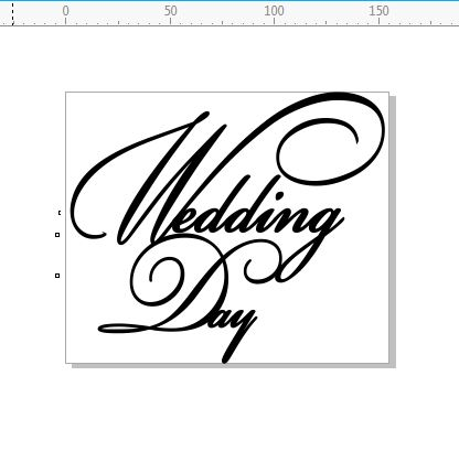 Wedding day 155 x 130 Script  .  min buy 3
