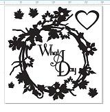 What a day wreath 12 x12