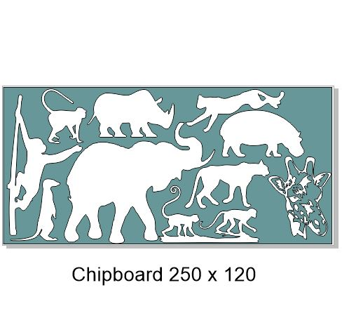 Wild animals, Zoo, Elephant,Chimp,Giraffe,Meerkat,tiger. 250 x 1