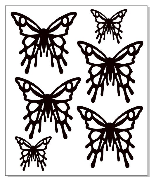 Wire butterflies 100 x 120  min buy 3