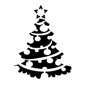 Mini-Stencil 100 x 100 Xmas Tree 5 priced individually