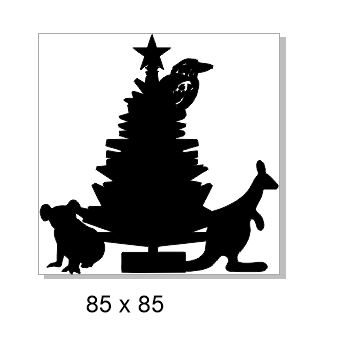 Christmas tree,Xmas tree 85x85 Aussie animals min buy 3