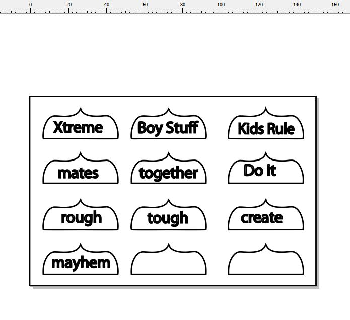 xtreme boy stuff Kids rule  page tabs  150 x 100 min buy 3