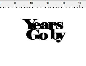 Years go By 50 x 35 mm pack of 10