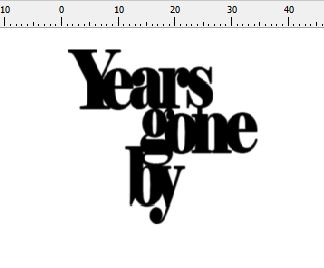 years gone by 50 x 50 mm Pack of 10