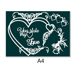 You stole my heart. Love A4 with flourishes. Min buy 3