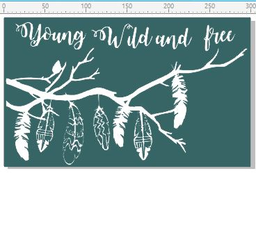 Young wild and free chipboard, 300 x 180.mm, min buy 3