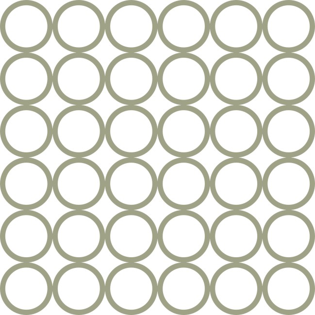 12 x 12 Circle Overlay (36) sold individually also available as