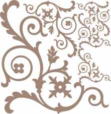 12 x 12 flourish corner set 8sold 3\'s