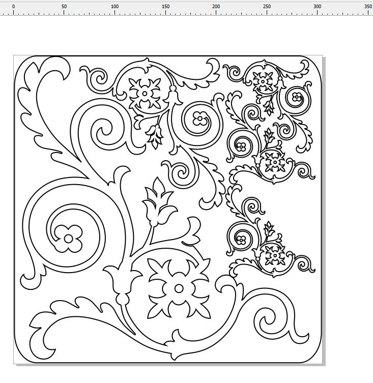 Swirls    flourish  min buy 3  12 x 12